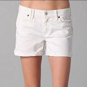 [Madewell] Cutoff Jean Shorts, White